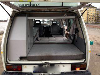 Hanggtime La Familia VW-T3 unteres Bett