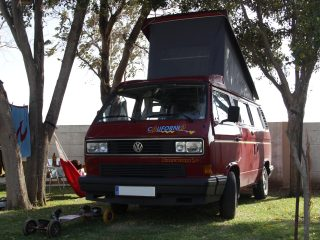 Hanggtime roter Baron VW T3 Klappdach
