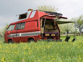 Hanggtime roter Cathago VW T3 Vanlife